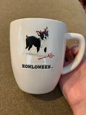 Boston Terrier In Halloween Costumes (Rae Dunn Halloween Howloween Boston Terrier Dog in Costume Mug in White)
