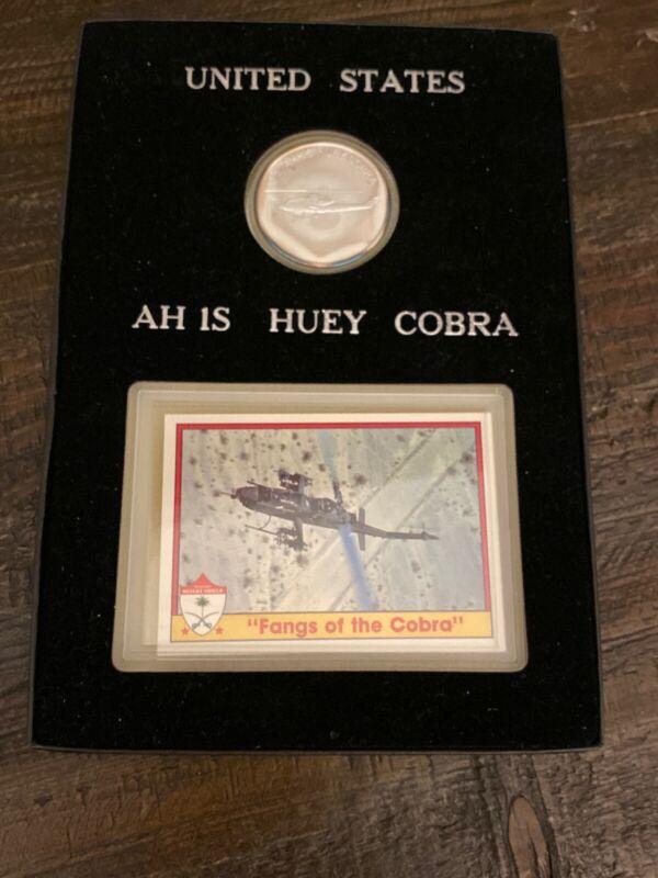 USA Desert Shield, Huey Cobra Silver Set, Saudi Arabia, Trading Card, With Box