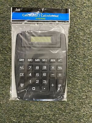Big Button Large Desk Calculator Easy To Read 8 Digit Display Battery Incl.