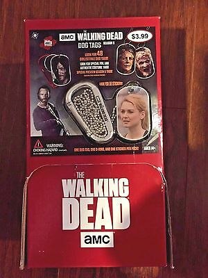 ✔ Display Box + 24 sealed packs The WALKING DEAD dog tags Blind bags SEASON 5
