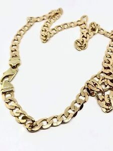 9ct Yellow Gold Curb Link Chain Revesby Bankstown Area Preview