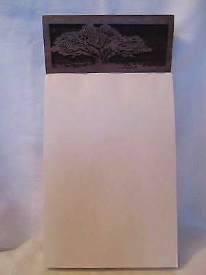 Vintage Lasercraft Mini Memo Note Pad Holder With Tree Theme New With Box