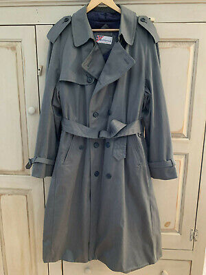 Mackintosh Trench Coat by Weatherfair Gray Double Breasted Lined EPOC 42 L Mens