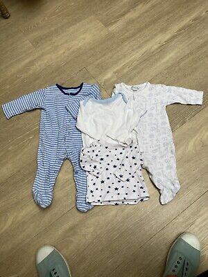 Baby boys Babygro/sleepsuit Tops Bundle 3-6mos. Kissy Kissy .