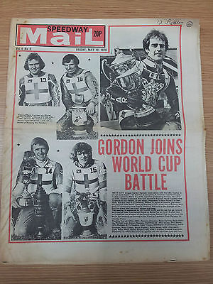 SPEEDWAY MAIL Weekly Newspaper, 19th May 1978 Vol. 6 No.8