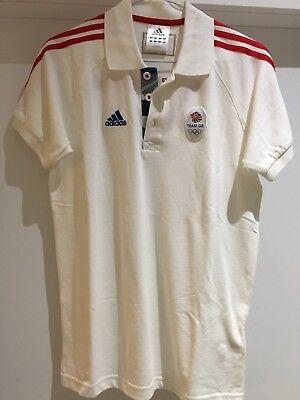 Team GB Adidas Polo Shirt - Short Sleeve - Size XS White - London 2012 Olympics