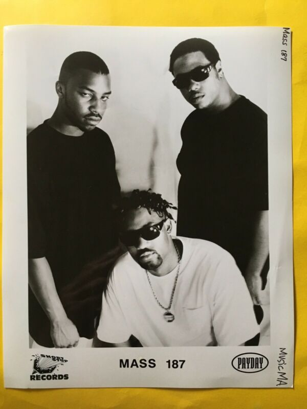 """Mass 187 Press Photo 8x10"""", Short Stop Records, Payday."""