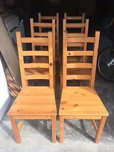 Wooden Dining Chairs Soldiers Point Port Stephens Area Preview