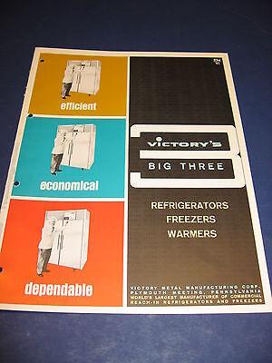 Victory Metal Mfg. Vintage 1965 Beverage Retail Refrigerator Display Cases.