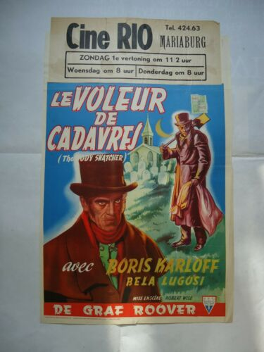 BORIS KARLOFF/THE BODY SNATCHER /UC5 /ORIGINAL belgium poster