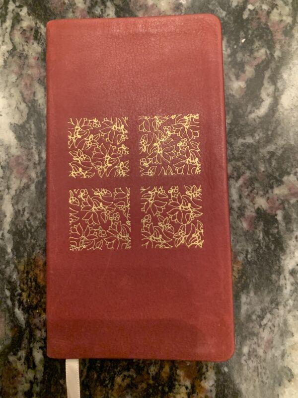 Vintage Michael Graves Leather Red Floral 1991 Calendar Pocket Planner book