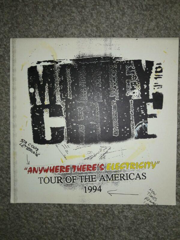 """""""Motley Crue"""" Tour book TOUR OF THE AMERICAS 1994 SUPER RARE EX. COND!!!"""