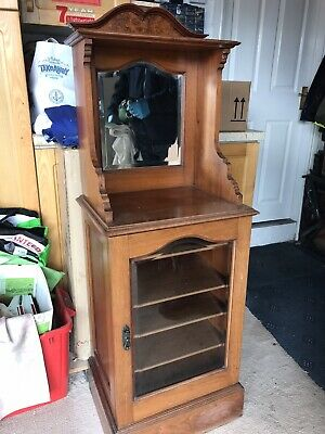 Vintage Dresser Cabinet Cupboard Cottage Furniture Storage Mirror Traditional