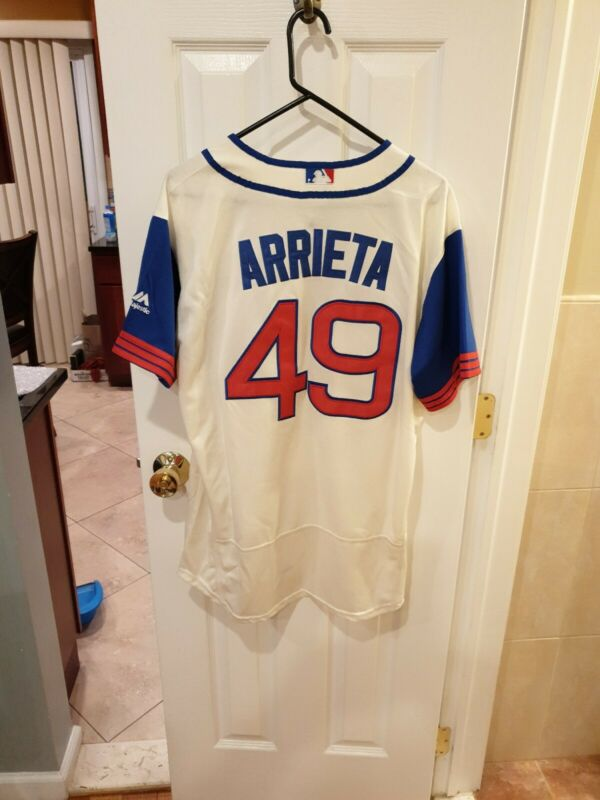 CHICAGO  CUBS JAKE  ARRIETA LARGE WHITE #49  NICE