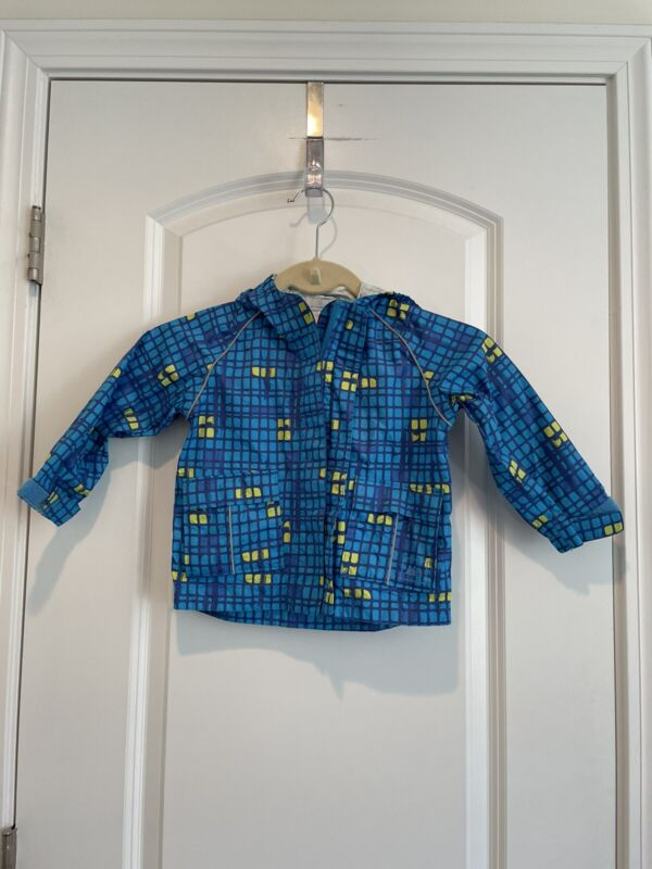 Toddlers REI Blue green Raincoat Coat Unisex Sz 18m 18 Months