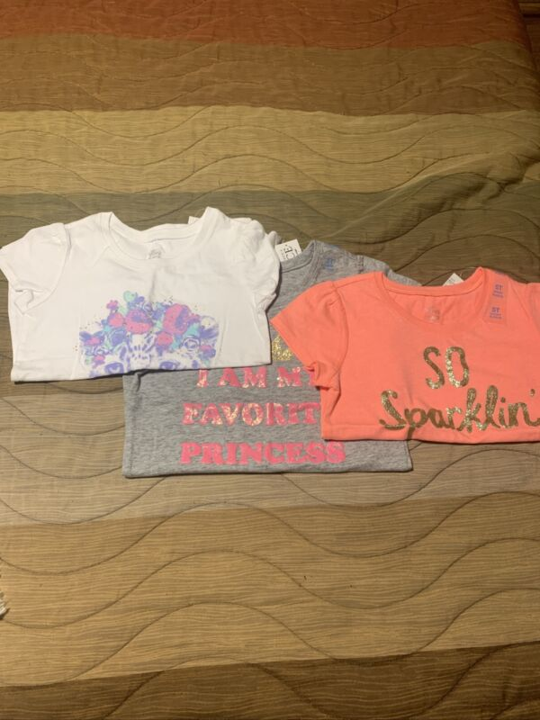 Lot Of 3 Girls Children's Place Shirts, Size 5T