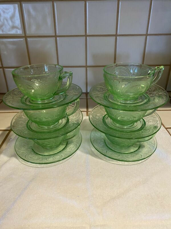 6 Depression Horseshoe Cup And Saucer