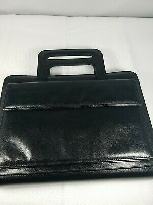 365 Franklin Covey Weekly Daily Planner Organizer Black Zippered Case W Handles