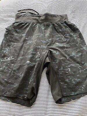 """lululemon the short 9"""" Black Camoflage Shorts W/liner"""