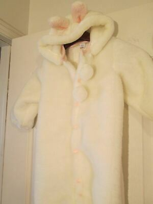 White Bunny Halloween Costume Infant Bunting Coat Size  18-24 Month Future Tense - Infant Bunny Halloween Costume