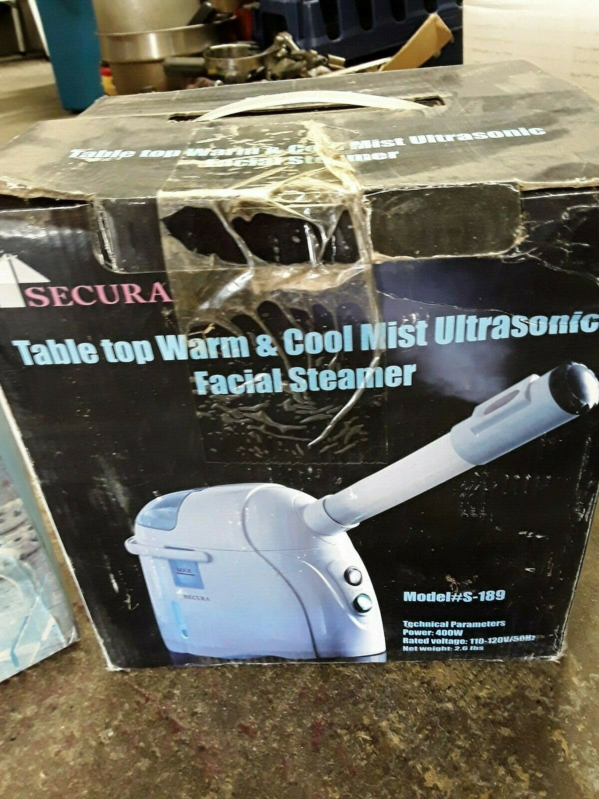 Secura Hair and Facial Steamer with Ozone Technology S-192