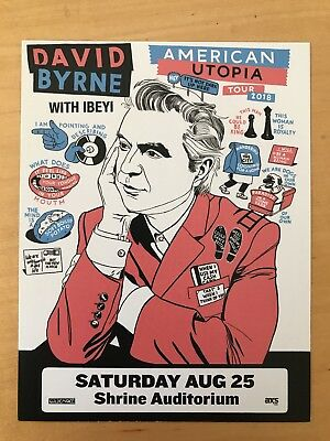 DAVID BYRNE american utopia Shrine auditorium LA aug 25 2018 handbill