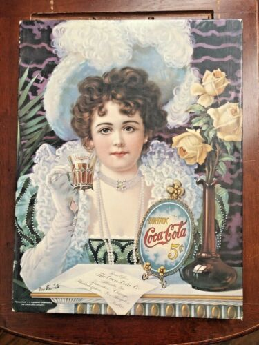 "Vintage Coca Cola Puzzle Springbok An Old Fashioned Girl 500 Pc 23"" Hilda Clark"