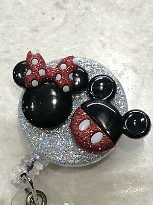 Disney Mickey Minnie Id Badge Holder Retractable Reel, New Nurse Gift - Nurse Gifts Ideas