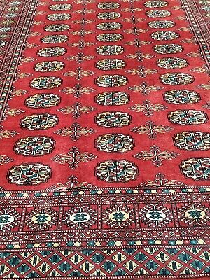 $1014 Hand-knotted Carpet 4x6 Finest Peshawar Bokhara Traditional Wool Area Rug