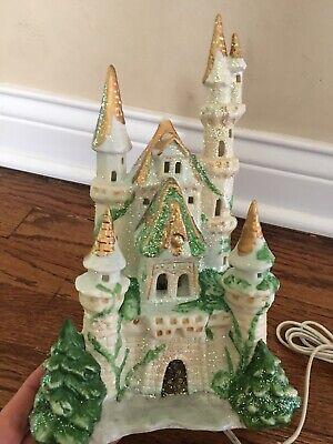 Silvestri Vintage Christmas Princess Castle Lighted Light Up Porcelain Decor Princess Christmas Lights