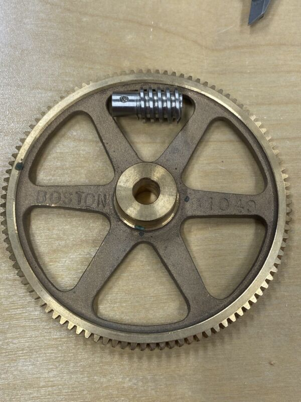 BOSTON GEAR MATCHING BRONZE WORM GEAR SET 100:1 RATIO 24 PITCH HUGE REDUCTION !