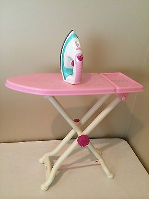 Make believe Play Ironing Board and Iron Laundry Set, Folding Children's Toy *YG