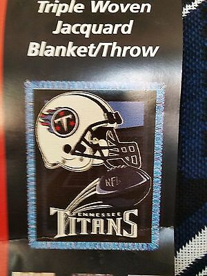 """NFL Tennessee Titans Triple Woven Jacquard Blanket The Northwest Throw 48""""x 60"""""""
