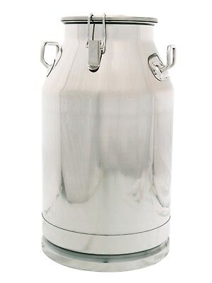 10 Gallon Stainless Steel Milk Can Heavy Duty With Sealed Lid 40 Qt 304 Ss
