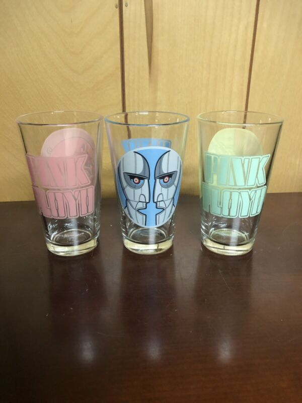 """Pink Floyd 16oz Glass Cup Set  """" Wish You Were Here"""" 2007"""