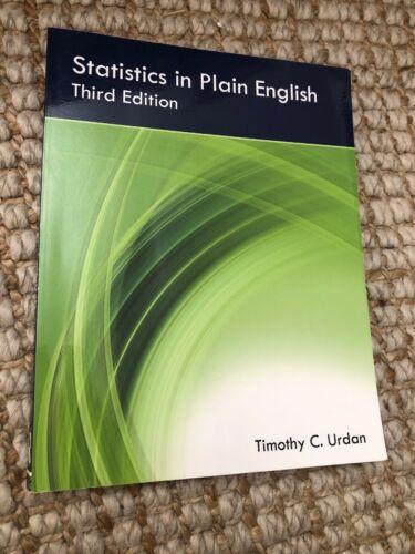 Statistics In Plain English Third Edition By Timothy C. Urdan 2010,... - $16.99