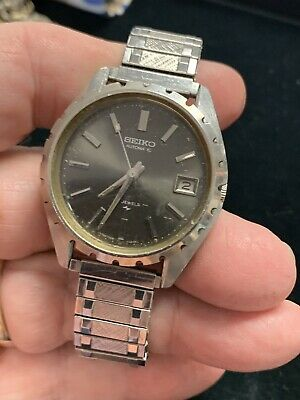 Vintage Seiko Automatic 17Jewels 7005-8027 With Date Running Metal Twist Band