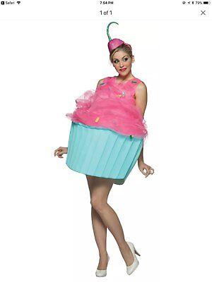 Rasta Imposta Sweet Eats Womens Cupcake Halloween Costume Fits Size 4-10