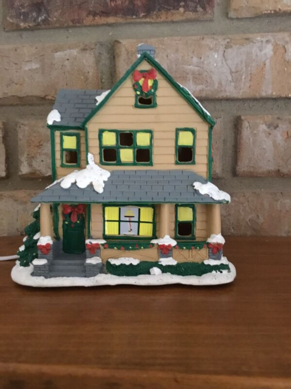 A Christmas Story Ralphie's House NECA Light-Up Resin Decoration W/Box