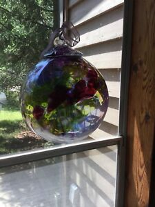 Beautiful Glass Witch Ball.  $40.