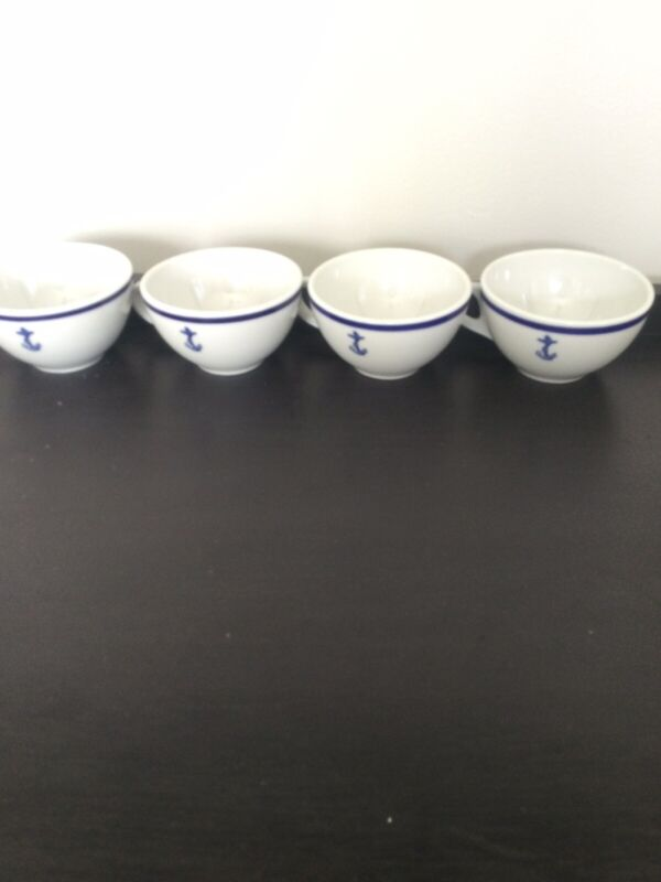 US Navy Shenango China Small Tea Cup With Fouled Anchor