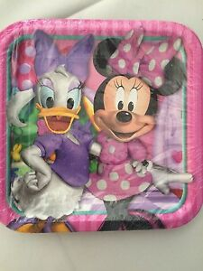 Minnie Mouse Bow-tique Daisy Duck Party Supplies-Large Plates-8ct