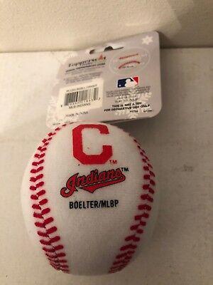 MLB Cleveland Indians Soft Sculpt Mini Baseball Christmas Ornament - NEW!  Mini Baseball Ornament