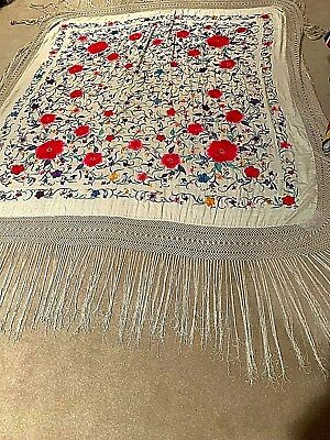 Very Large, Antique Chinese Piano Shawl or Bed Cover