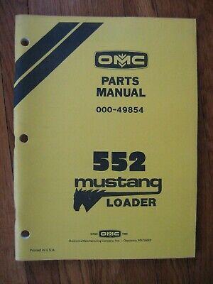 Mustang Omc 552 Skid Loader Parts Catalog Manual