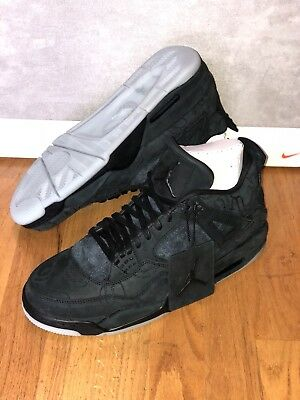 Air Jordan 4 Retro Kaws Black Clear Glow 930155-001 Mens Size 11.5 New 100% Auth
