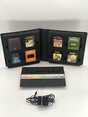 Atari 2600 Jr. Rainbow Console With 8 Games And Collectors Case (Read Desc)