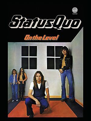 """Status Quo On the Level 16"""" x 12"""" Photo Repro Promo Poster"""