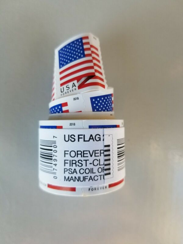 USPS 2018 Forever Flag Stamps, Coil of 100, In original packaging, Free Shipping