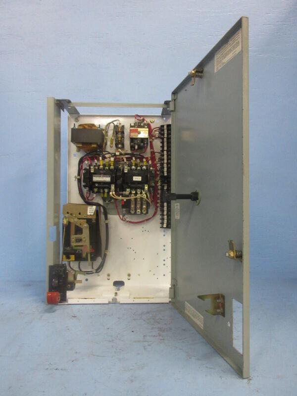"General Electric GE 8000 Size 1 Reversing Starter 7 Amp Breaker 24"" MCC Bucket"